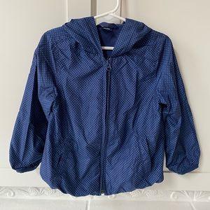 Baby GAP Navy Polka Dot Windbreaker Jacket